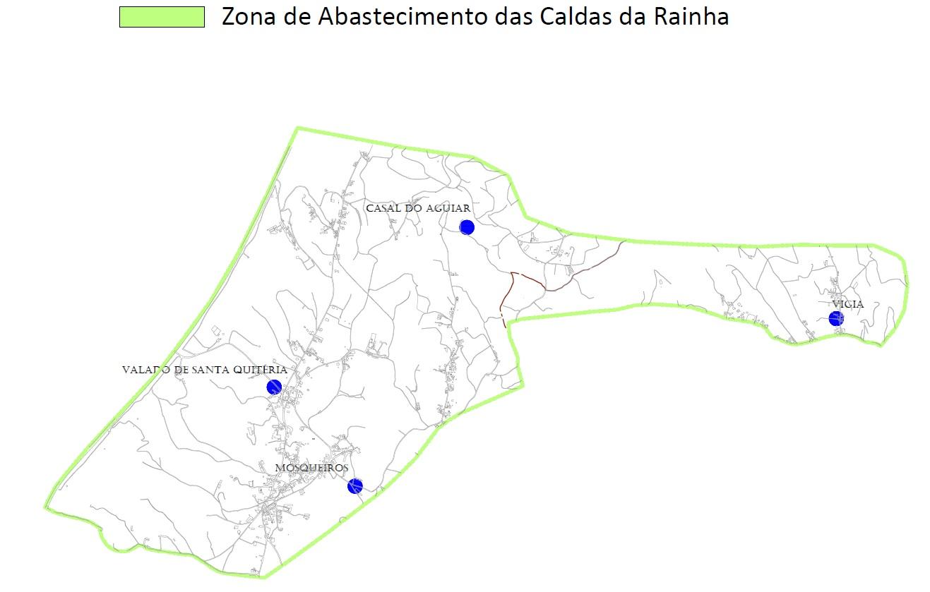 Mapa da Zona de Abastecimento de Caldas da Rainha